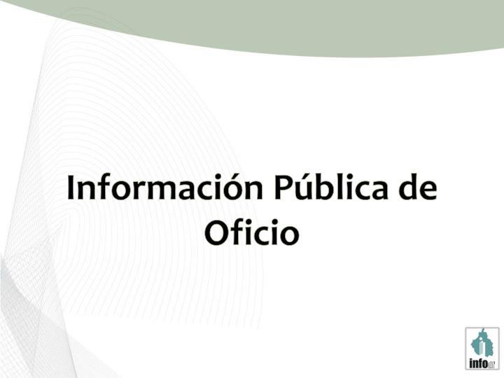Información Pública de