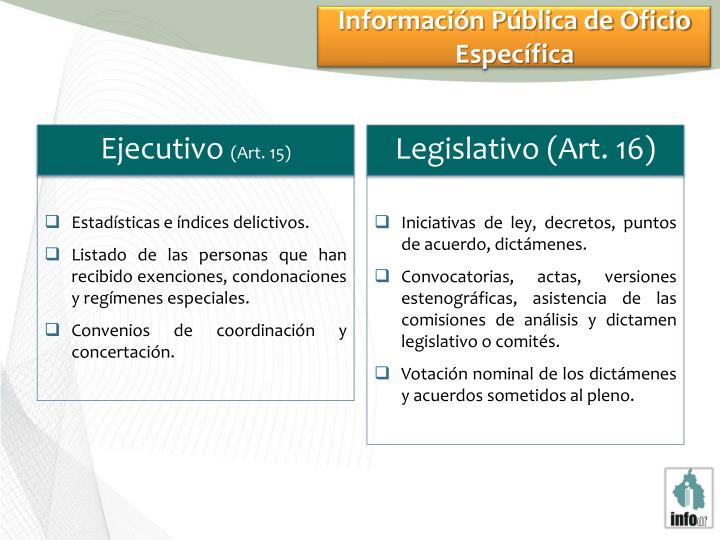 Información Pública de Oficio Específica