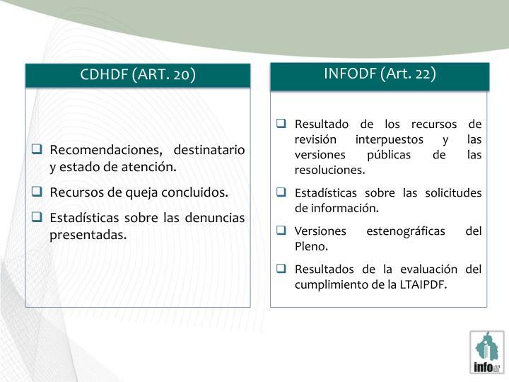 INFODF (Art. 22)