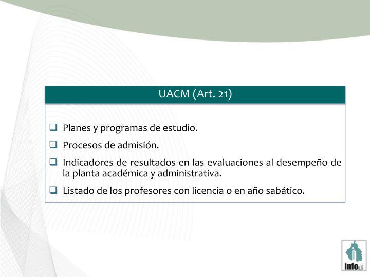 UACM (Art. 21)