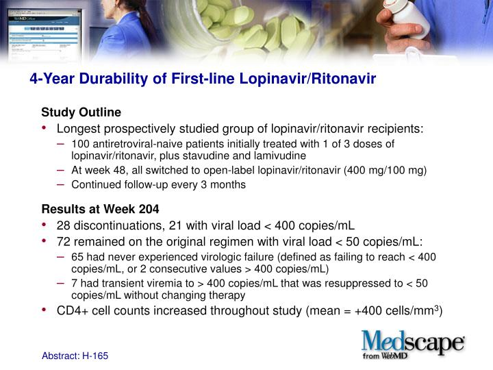 4-Year Durability of First-line Lopinavir/Ritonavir