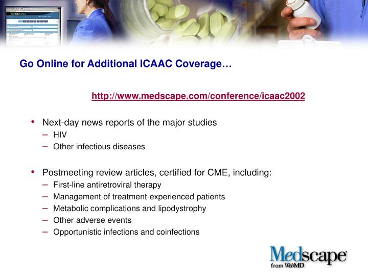 Go Online for Additional ICAAC Coverage