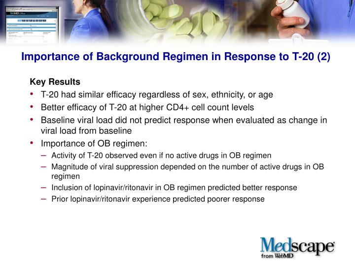 Importance of Background Regimen in Response to T-20 (2)