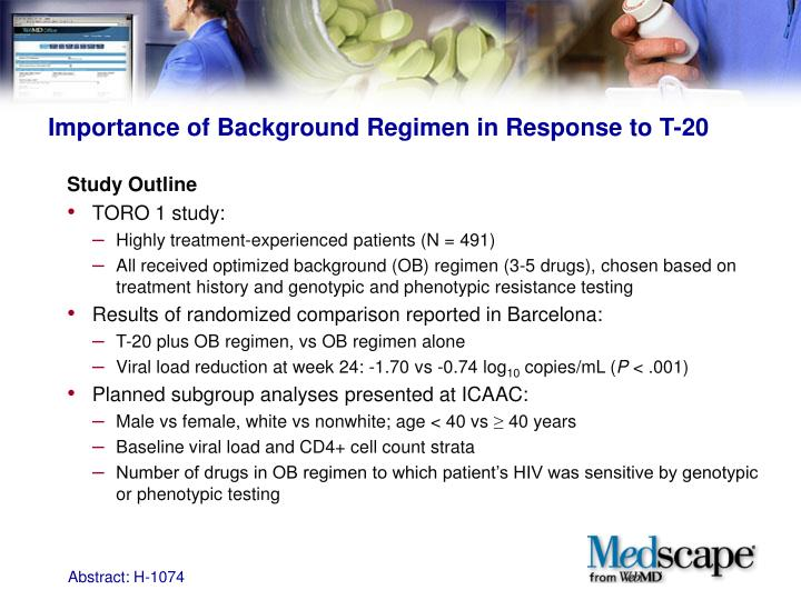 Importance of Background Regimen in Response to T-20