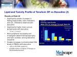 lipid and toxicity profile of tenofovir df vs stavudine 2