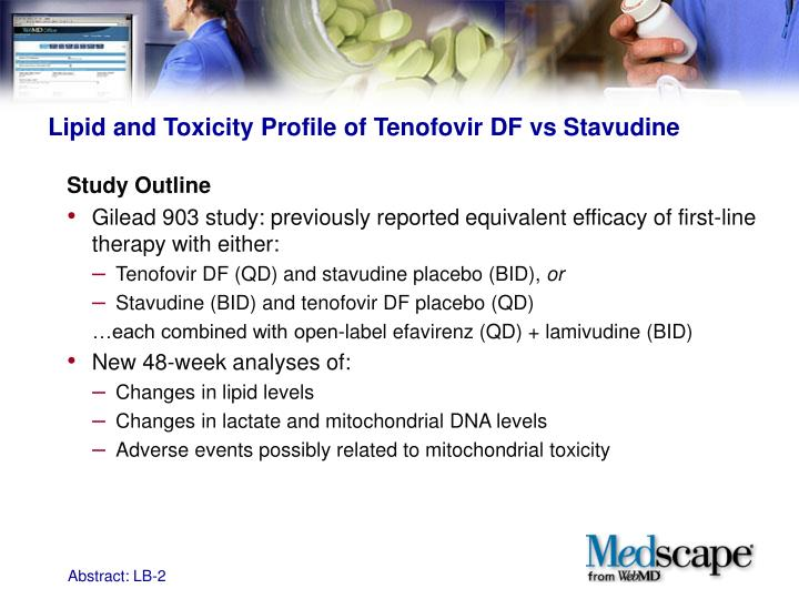 Lipid and Toxicity Profile of Tenofovir DF vs Stavudine
