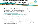 working with drink wise north west nw director of public health nw commmunity pharmacy network