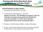 working with drink wise north west nw director of public health nw community pharmacy network2