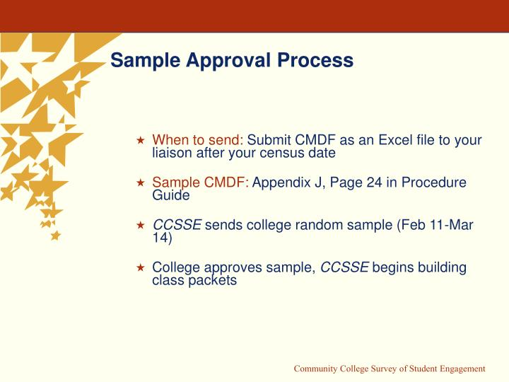 Sample Approval Process