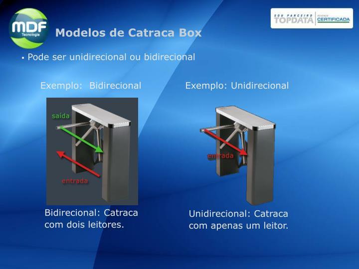 Modelos de Catraca Box