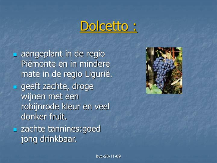 Dolcetto :