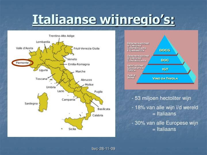Italiaanse wijnregio's: