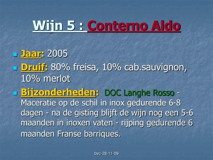 Wijn 5 :