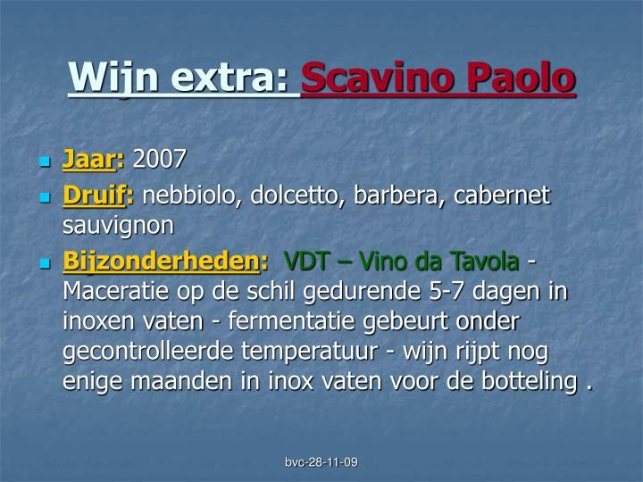 Wijn extra: