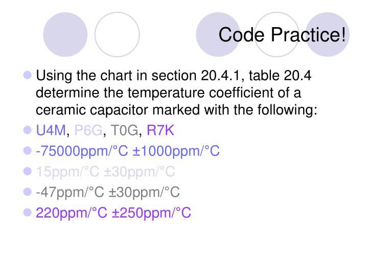 Code Practice!