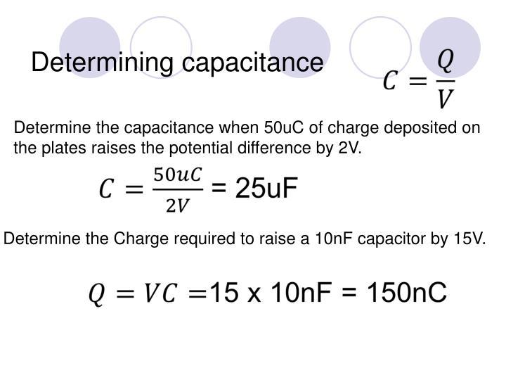 Determining capacitance