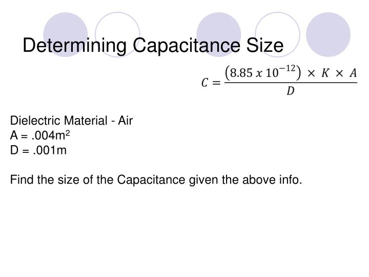 Determining Capacitance Size