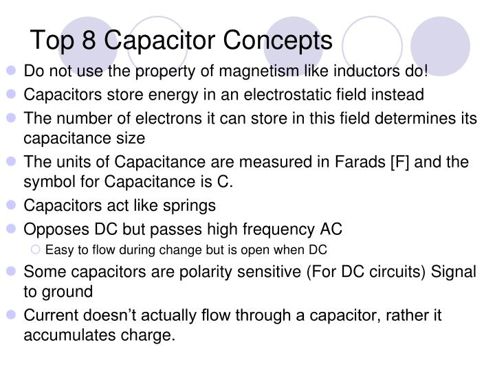 Top 8 Capacitor Concepts
