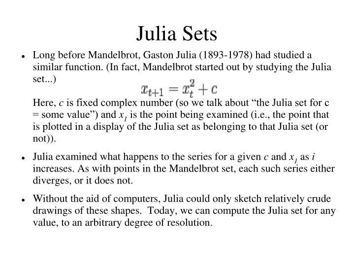 Julia Sets