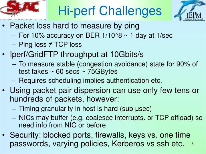 Hi-perf Challenges