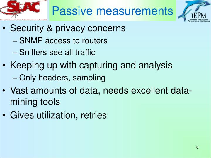 Passive measurements