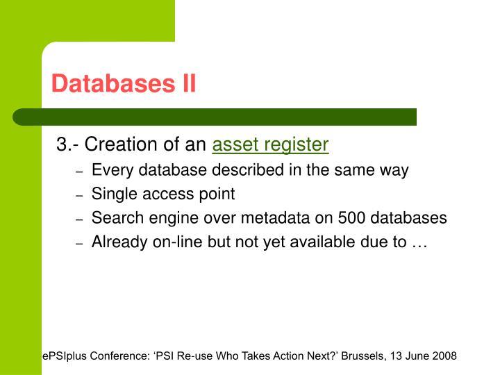 Databases II