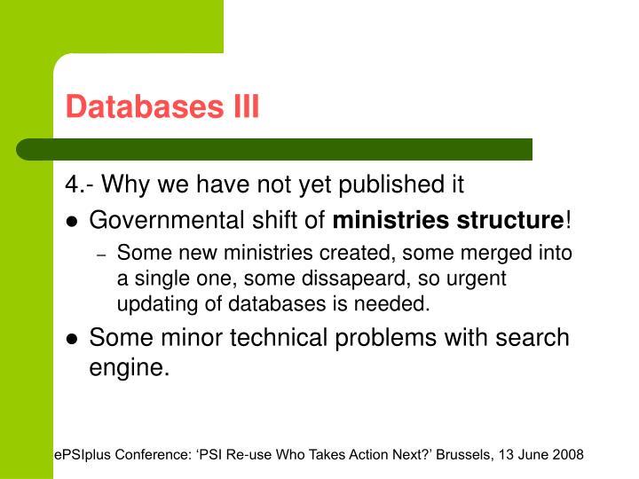 Databases III