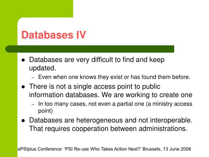 Databases IV