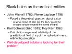 black holes as theoretical entities