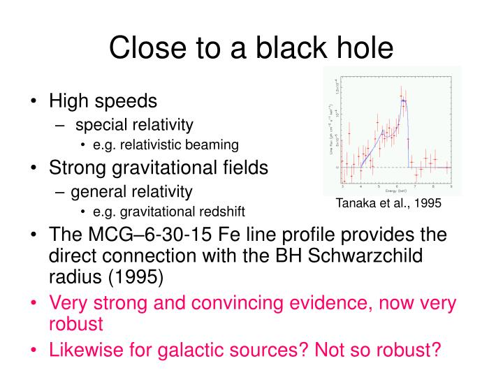 Close to a black hole
