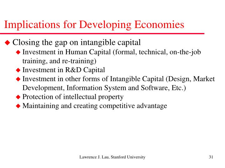 Implications for Developing Economies