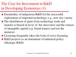 the case for investment in r d in developing economies 1