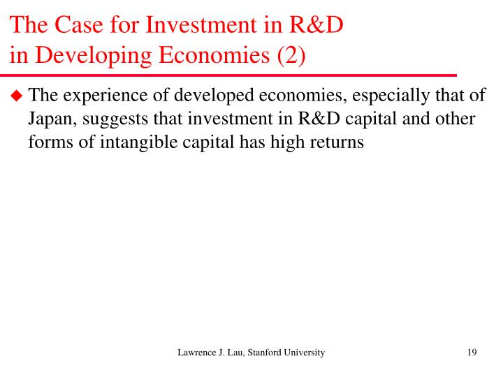 The Case for Investment in R&D