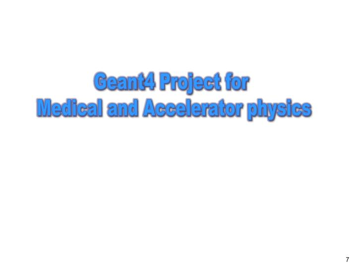 Geant4 Project for