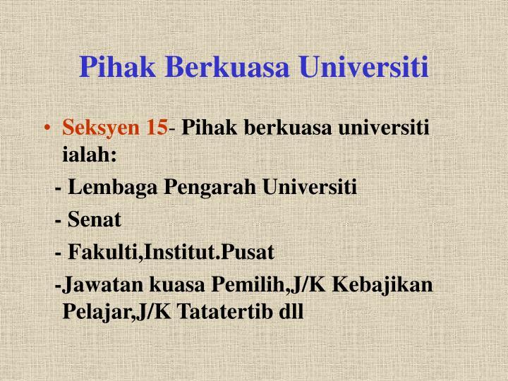 Pihak Berkuasa Universiti