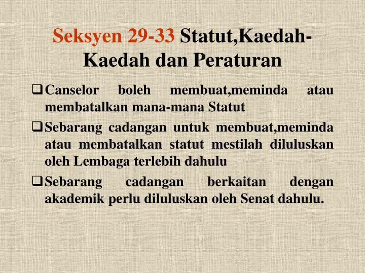 Seksyen 29-33