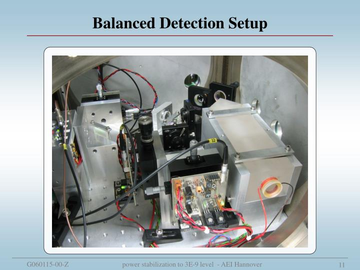 Balanced Detection Setup