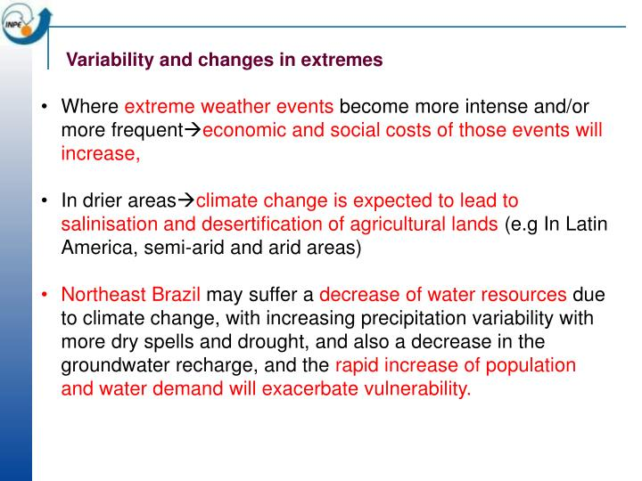 Variability and changes in extremes