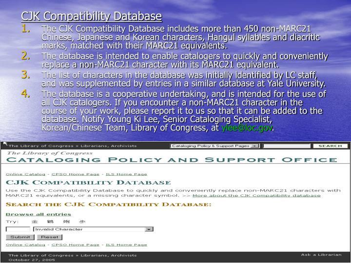CJK Compatibility Database