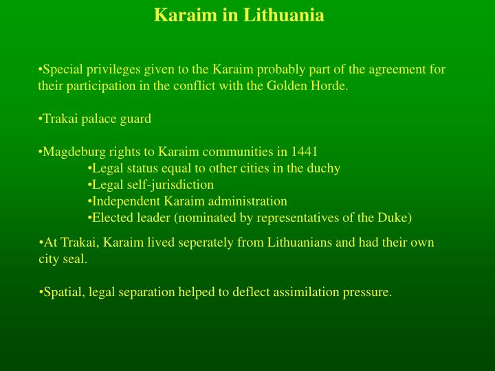 Karaim in Lithuania