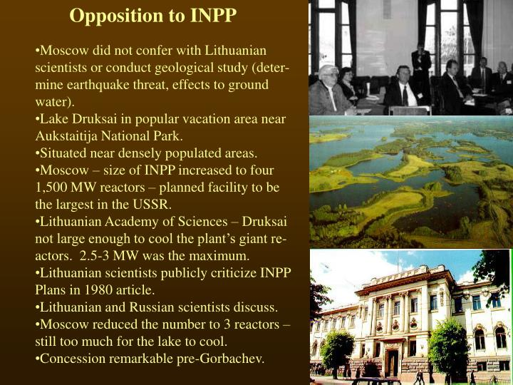 Opposition to INPP