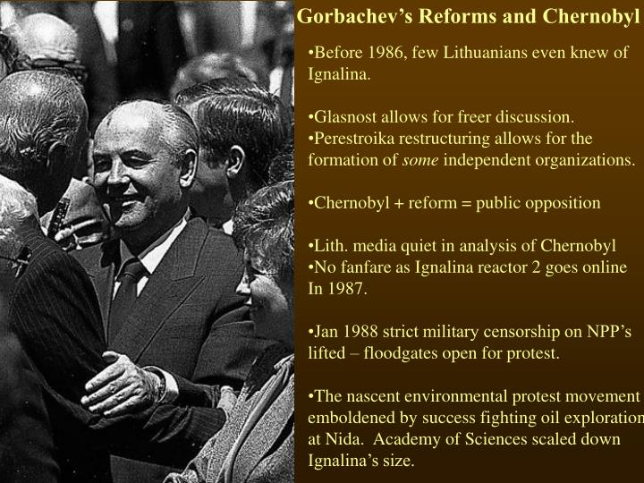 Gorbachev's Reforms and Chernobyl