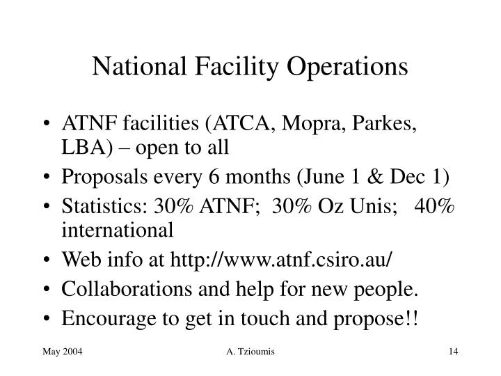 National Facility Operations