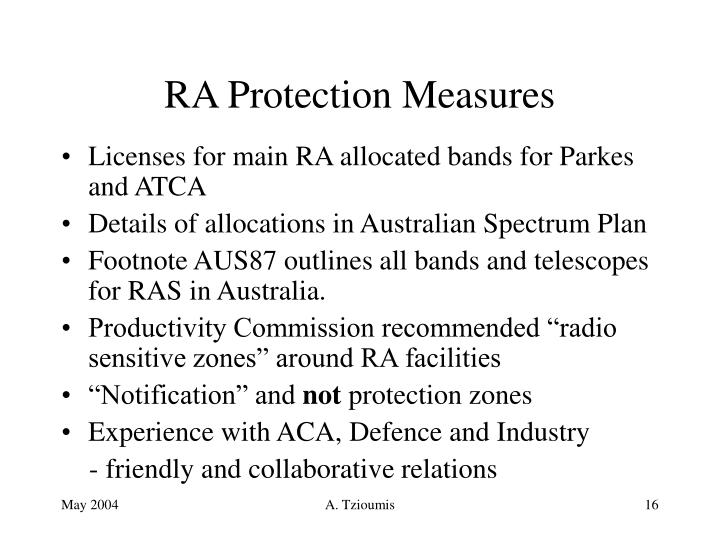 RA Protection Measures