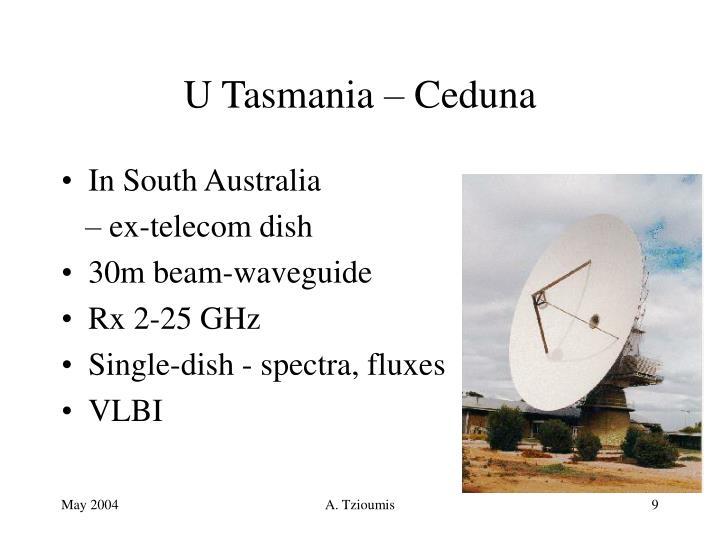 U Tasmania – Ceduna