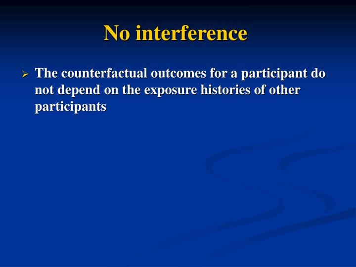 No interference