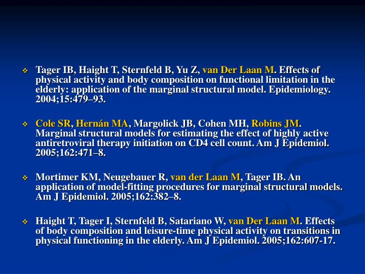 Tager IB, Haight T, Sternfeld B, Yu Z,