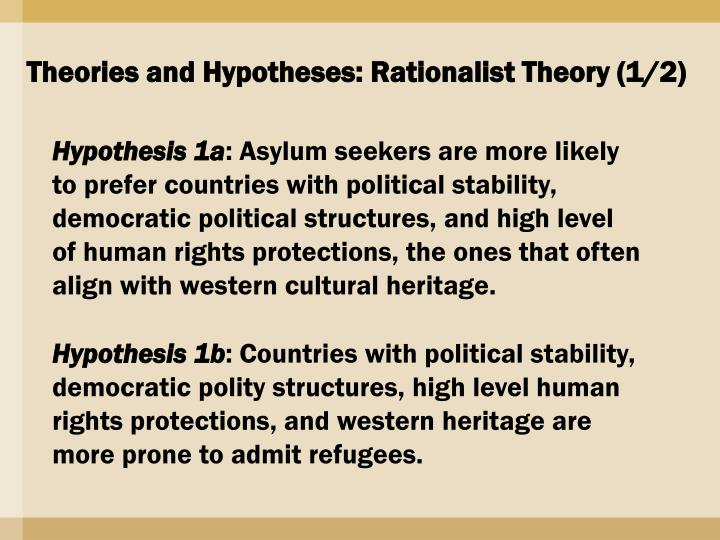 Theories and Hypotheses: Rationalist Theory (1/2)