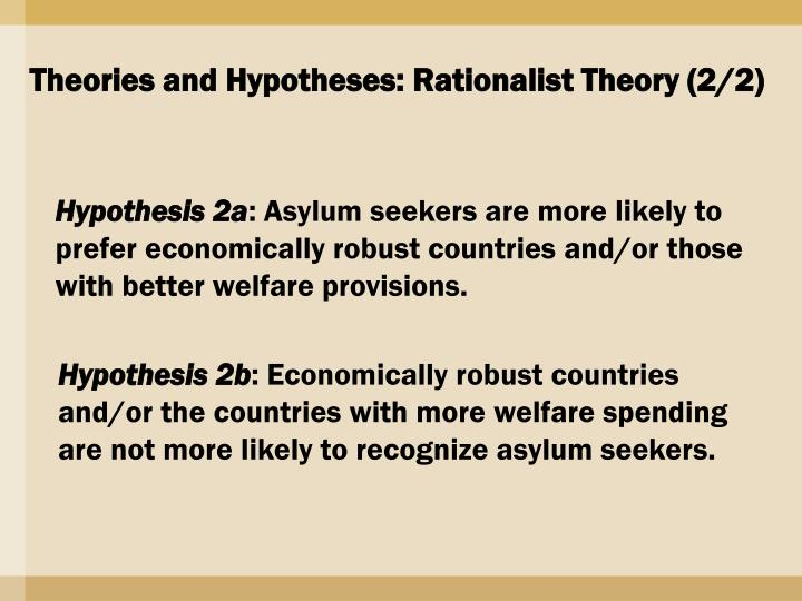 Theories and Hypotheses: Rationalist Theory (2/2)
