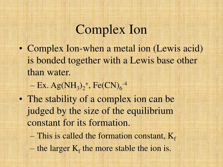 Complex Ion